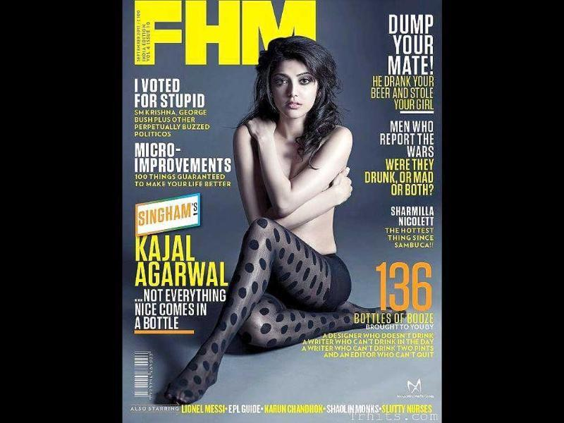 FHM features a seemingly topless Kajal Aggarwal though the actor claims otherwise.