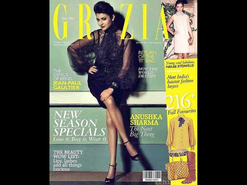 Anushka Sharma looks like a professional model on the cover of Grazia.