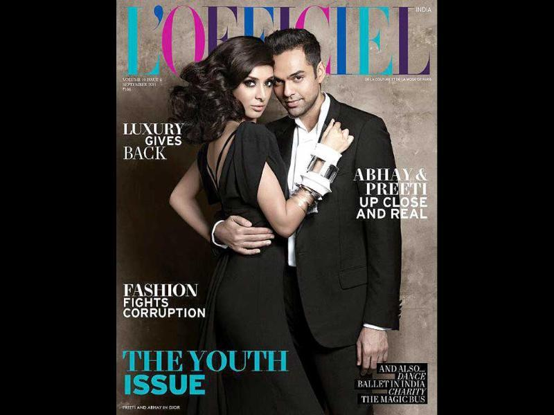 L'Officiel gets Abhay Deol and beau Preeti Desai together on their cover, for the first time.