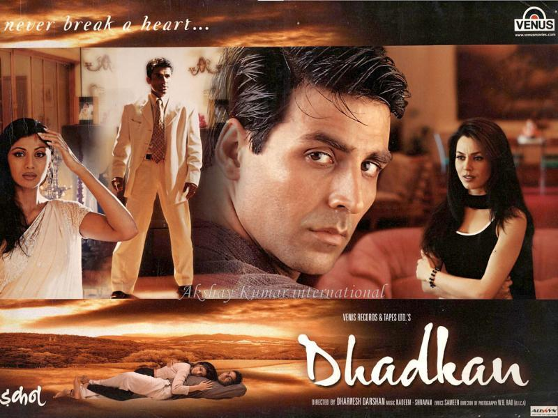 Akshay Kumar changed his action image with his emotional portrayal in Dhadkan opposite Shilpa Shetty.