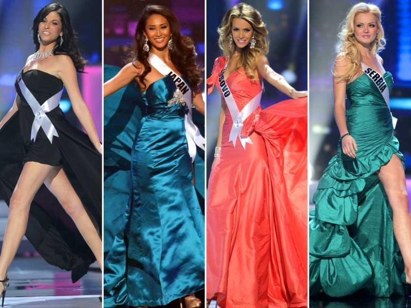 As the world waits with bated breath to watch the most popular beauty pageant in the universe, here's a look at the nominees in various rounds. Miss Universe 2011 contest kickstarts in São Paulo, Brazil on September 12 and will be broadcast at 6.30am in India.