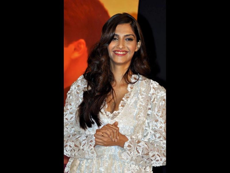 Sonam Kapoor during a launch party for the forthcoming film Mausam.