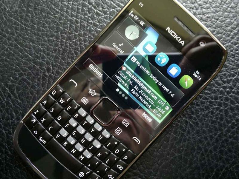 Nokia E6 (MRP Rs 15,566)A natural upgrade from the hugely popular E71, this candy-bar phone has not just a QWERTY keyboard but also a touch screen, like the Blackberry Bold 9900, and it runs on the latest version of Symbian Anna OS.
