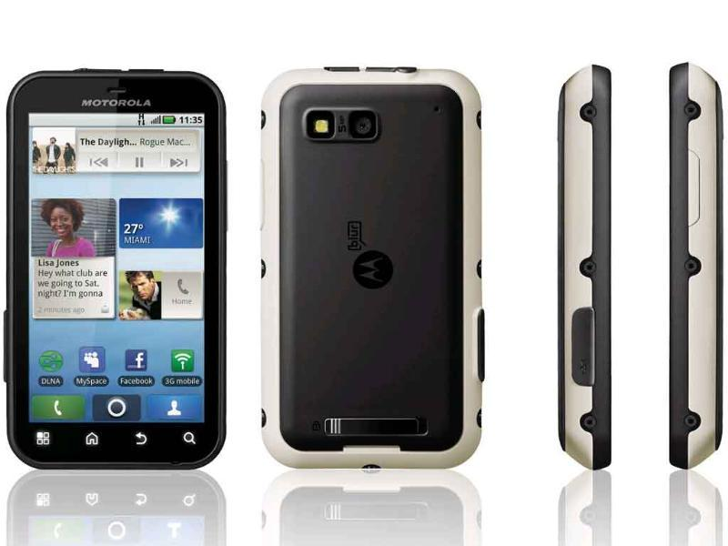 Motorola Defy (MRP - Rs 15,400)Dust proof and water & scratch resistant. 'Nuff said! If you can, wait for the Defy+ to hit the Indian shores.