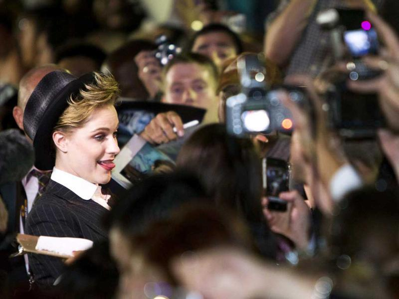 Actress Evan Rachel Wood arrives on the red carpet for the film Ides of March during the 36th Toronto International Film Festival in Toronto. The festival runs from September 8-18.