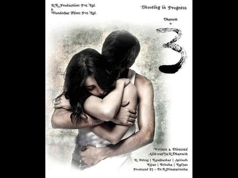 Dhanush-Shruti on the film's poster.