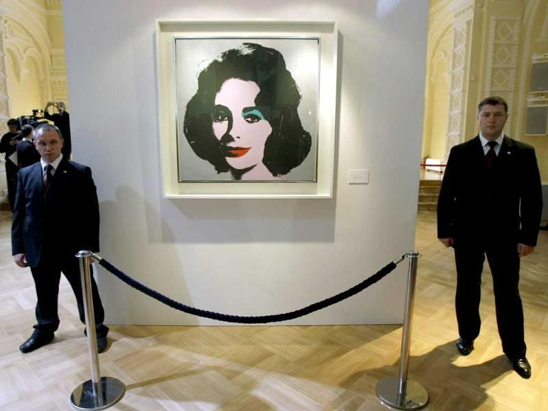 A portrait of Elizabeth Taylor by Andy Warhol from the Elizabeth Taylor collection.
