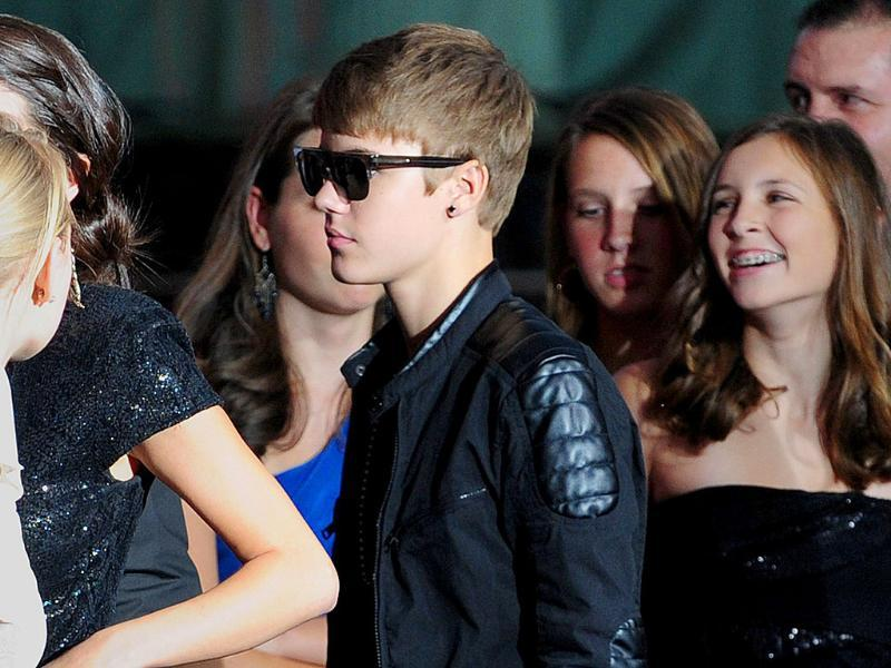 Teen idol Justin Bieber arrives for the world premiere of
