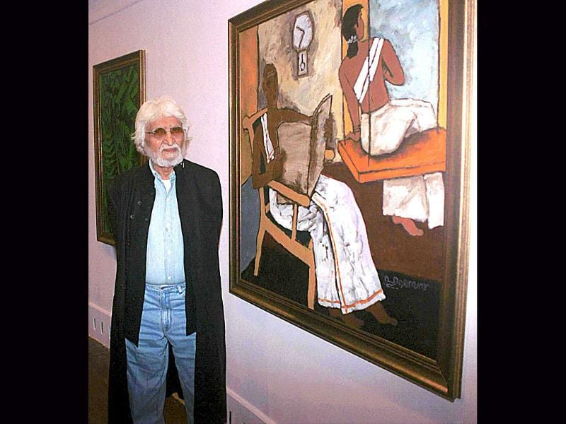 1952: His first solo exhibition was held in Zurich. It marked the start of the international viewing of Husain's work.