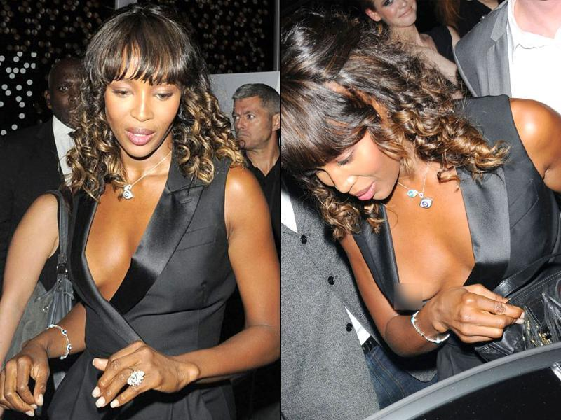 Naomi Campbell recently showed off a little more than she intended to as she left the Toni&Guy hair fashion show. Here's a peek at more such celebs who failed to stay undercover in the 'nip' of time!