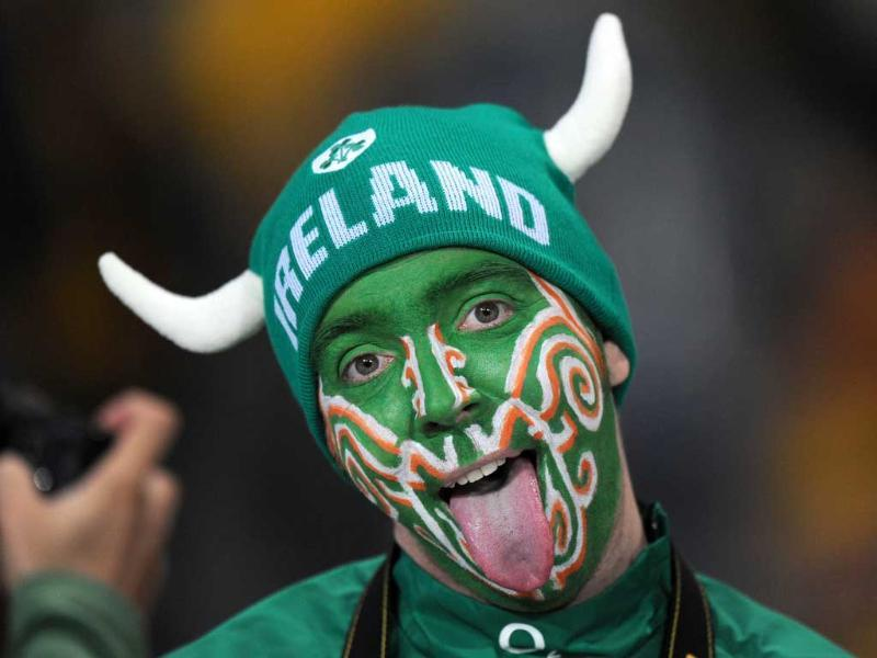 An Irish fan attends the 2011 Rugby World Cup pool C match Australia vs Ireland at Eden Park in Auckland.