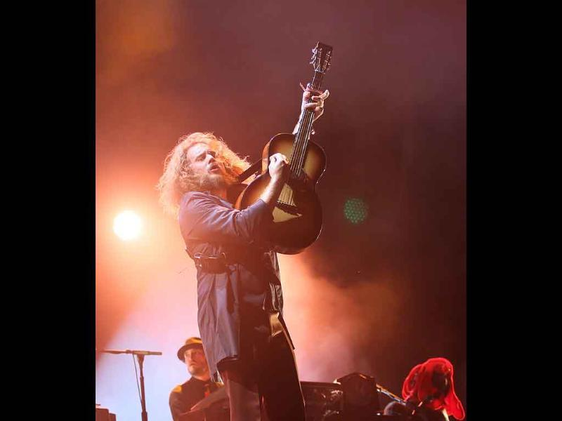 Jim James, of My Morning Jacket, plays at the Austin City Limits Music Festival in Austin, Texas. ACL is celebrating its 10th anniversary.