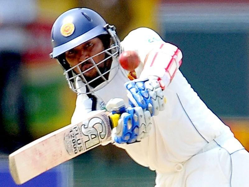 Sri Lankan cricket captain Tillakaratne Dilshan plays a shot during the third day of the third and final Test match against Australia in Colombo.