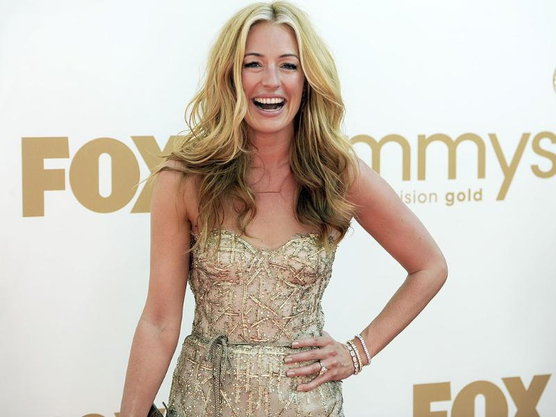 Cat Deeley is all smiles as she arrives at the 63rd Primetime Emmy Awards. (AP)