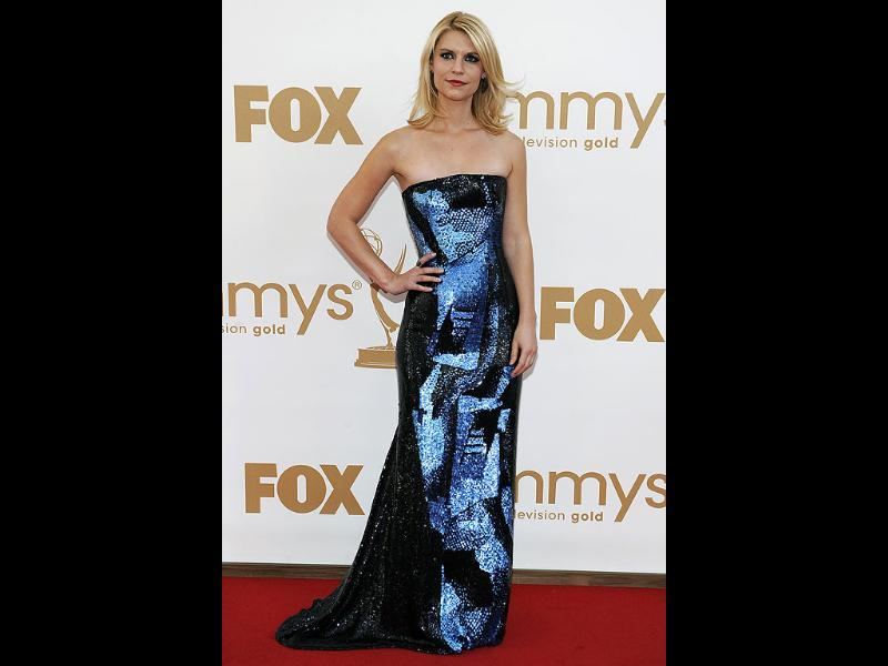 Claire Danes arrives at the 63rd Primetime Emmy Awards. (AP)