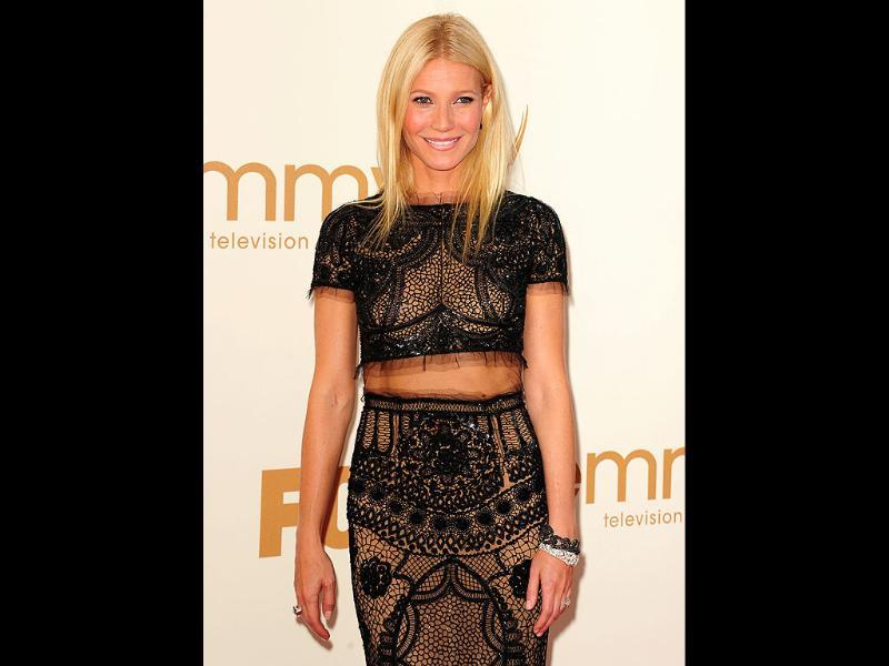 Actor Gwyneth Paltrow arrives at the 63rd annual Primetime Emmy Awards.