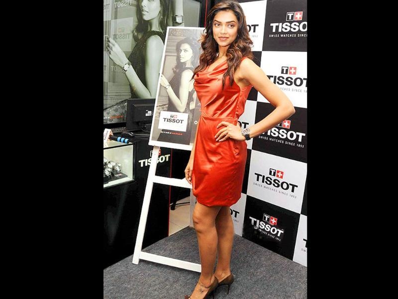 Deepika at the launch of Tissot watches.