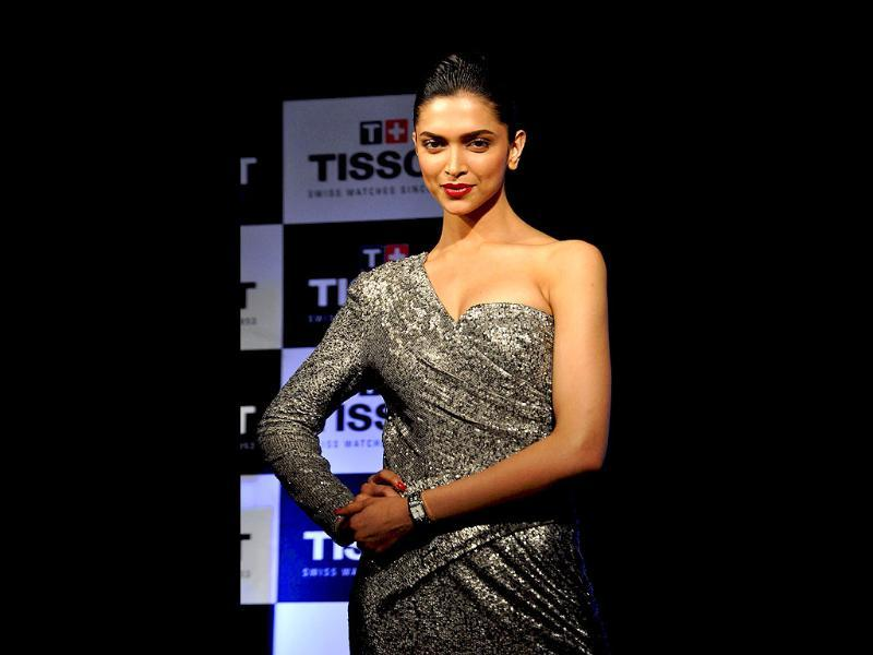 Deepika looks chic and classy as she strikes a pose for the camera.