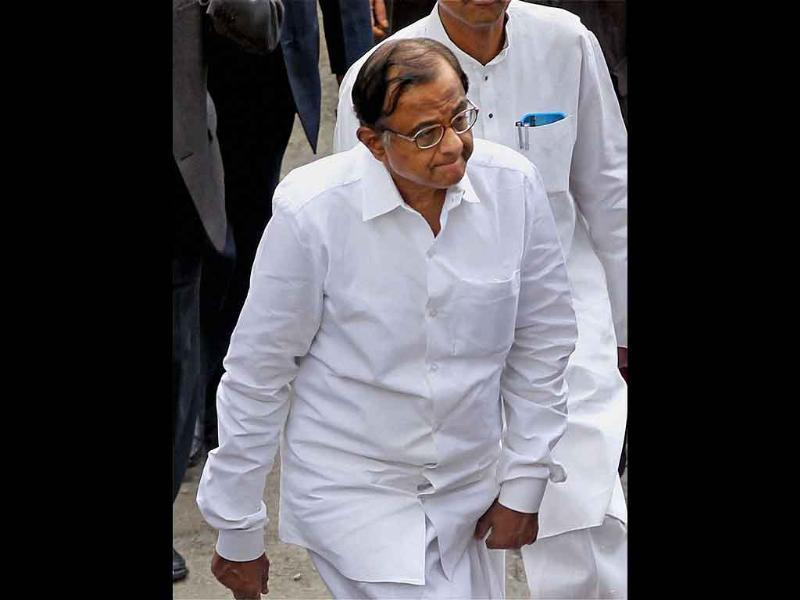 Union home minister P Chidambaram arrives at STNM hospital to meet the earthquake victims in Gangtok.