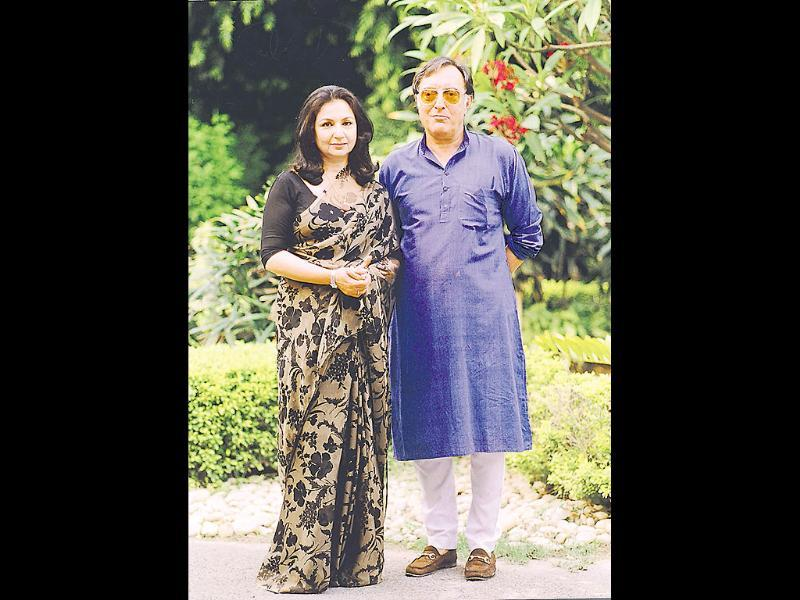 Mansoor Ali Khan Pataudi and wife Sharmila Tagore, one of the iconic couples of their generation.