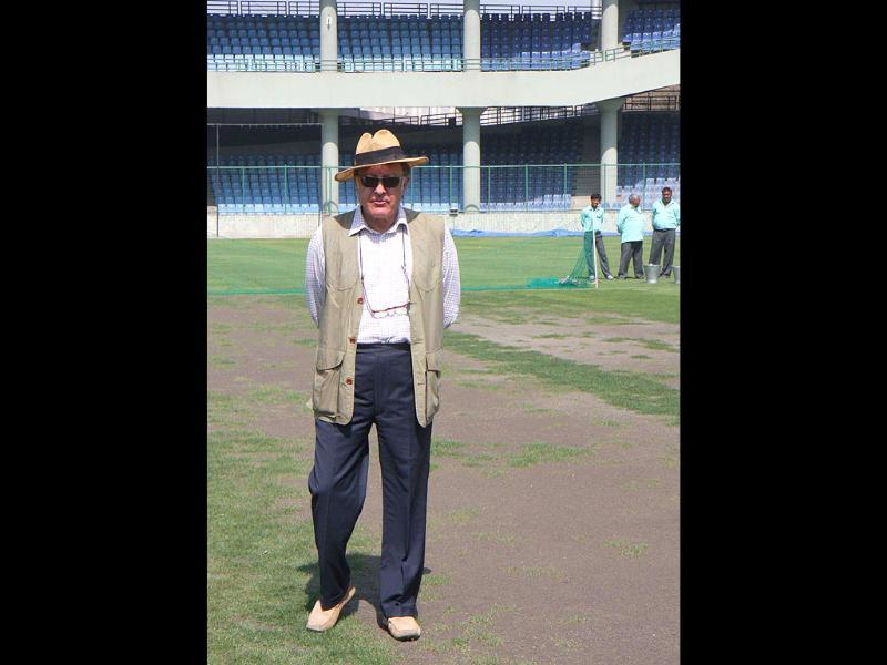 Mansoor Ali Khan Pataudi at the Ferozeshah Kotla cricket ground. Pataudi was the youngest India Test captain, a record that stood until 2004. He advocated the multi-spinner strategy and used it to achieve India's first overseas Test win, in Dunedin in 1968.