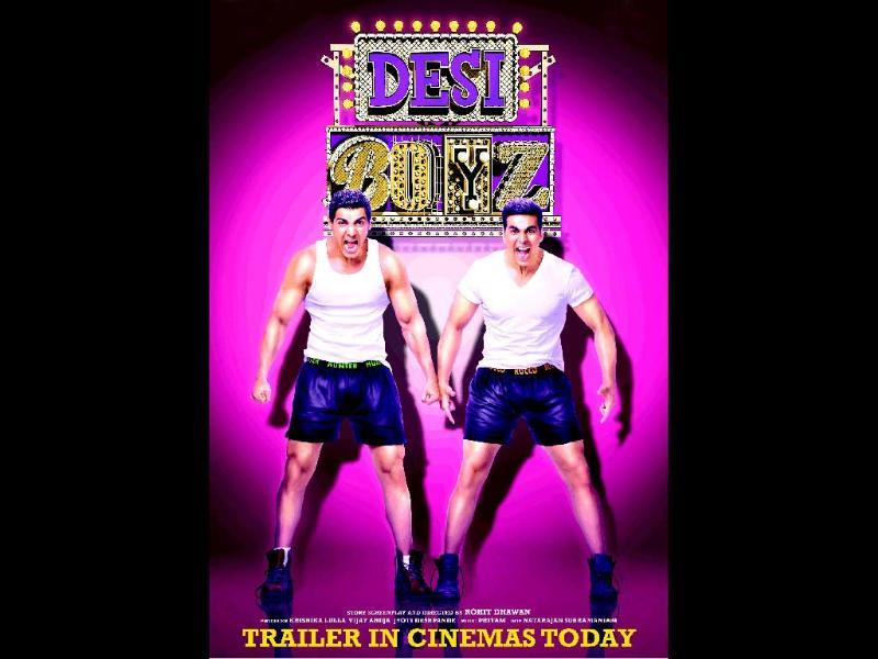 First poster of the movie featured John and Akshay in shorts.