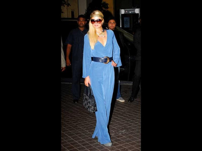Paris Hilton has finally come to India to launch the Paris Hilton handbag and accessories collection in the country. Check out the hotel heiress' many moods.