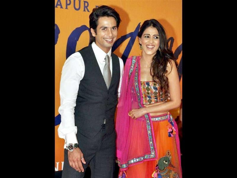 All smiles: Shahid Kapoor and Genelia D'Souza. (PTI)