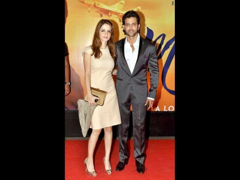 Hrithik Roshan with his wife Susanne Roshan.