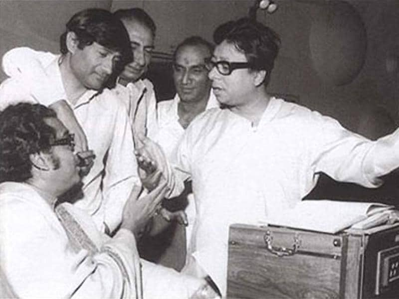 His association with music composers Shankar-Jaikishen, O. P. Nayyar, Kalyanji-Anandji, Sachin Dev Burman and his son Rahul Dev Burman, lyricists Hasrat Jaipuri, Majrooh Sultanpuri, Neeraj, Shailendra, Anand Bakshi, and playback singers Mohammad Rafi and Kishore Kumar produced some very popular songs.