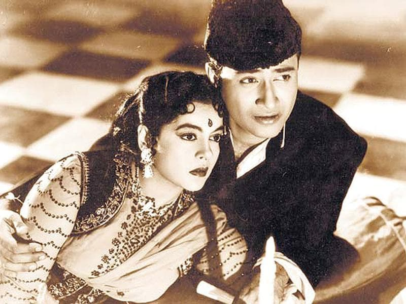 Dev Anand with actor Nalini.