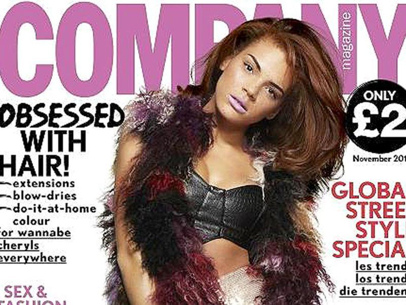 Jade is the covergirl for Company magazine.