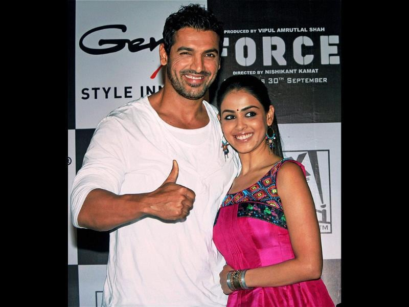 John and Genelia sure look comfortable together.