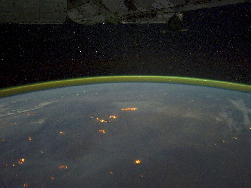 Fires, burn on the continent of Australia, with smoke plumes faintly visible in the night sky, in this picture taken by astronauts on the International Space Station using a digital camera.