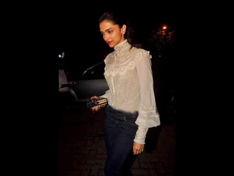 Ranbir Kapoor's former girlfriend Deepika Padukone also made her presence felt at the party. Is the fire rekindling?