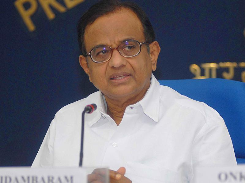 Union home minister P Chidambaram gives updates of the home Ministry for the month of September 2011 at a press conference in New Delhi.