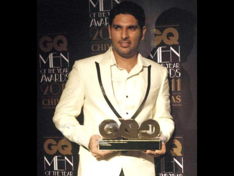 Yuvraj Singh is the proud recipient of the award.