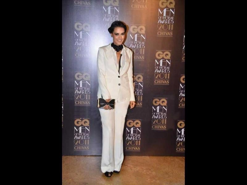 Neha Dhupia's androgenous wardrobe gone quite wrong.