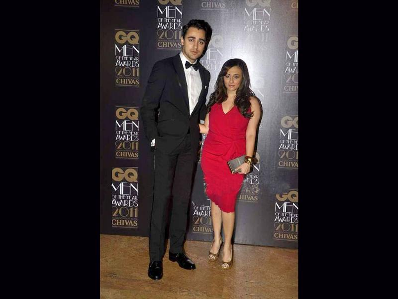 Imran Khan and wife Avantika arrive at the GQ Men of the Year awards.