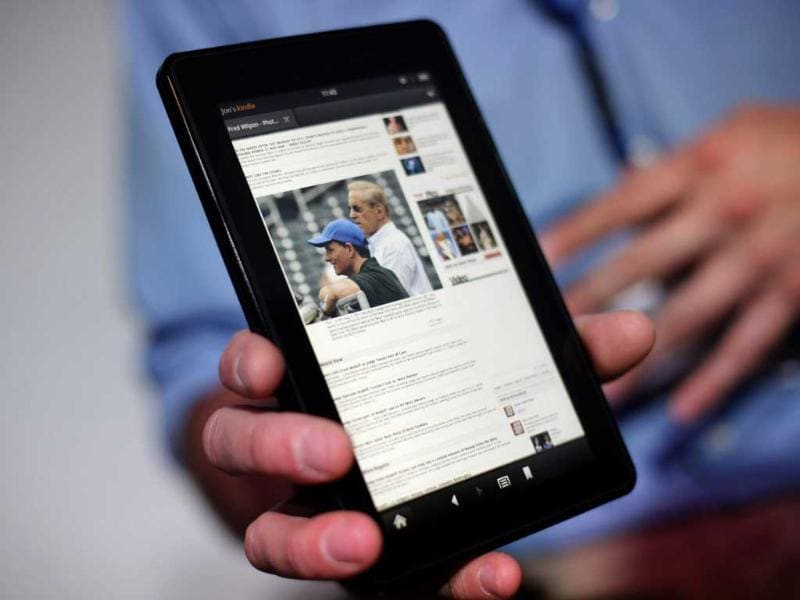 Amazon Kindle Fire - Amazon has rekindled the tablet war by launching the Android based Kindle Fire today. This 7-incher is a ideal device to read books and magazines on. Amazon has also launched a new mobile browser Silk with this tablet.