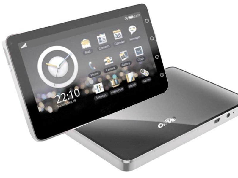 Olive Pad VT100 - This is the first tablet computer indigenously developed in India. It runs on Froyo and has both the 3G and WiFi-only variants. Apart from giving you speedy and unlimited access to the internet, wherever you are, the OlivePad has the PushMail application as well.