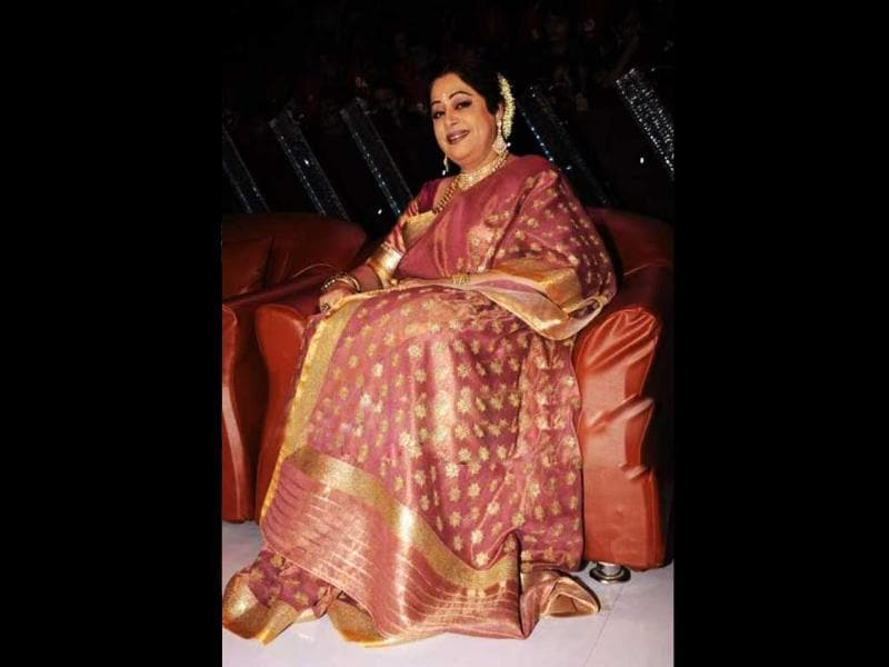 Kirron Kher in her trademark traditional sari.