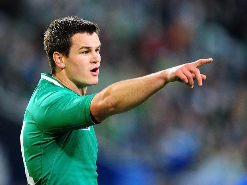 Ireland's Jonathan Sexton gestures during the 2011 Rugby World Cup pool C match Ireland vs Italy at the Otago Stadium in Dunedin.