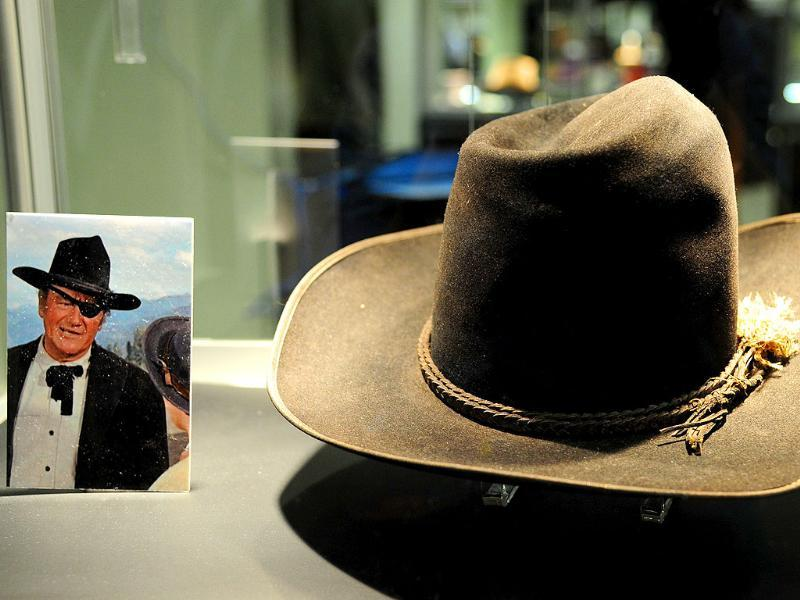 A cowboy hat worn by John Wayne in