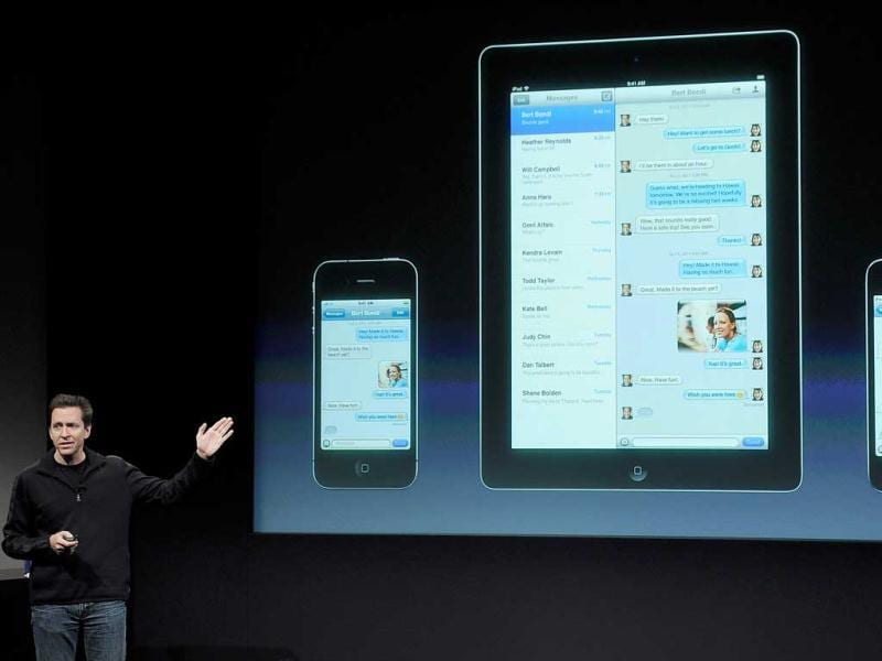 Apple's Senior Vice President of iOS Scott Forstall speaks at an event.
