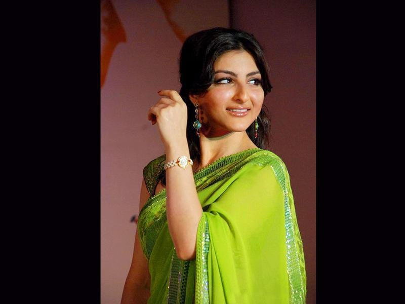 Soha Ali Khan displays the old-world charm as she poses with her Raga watch.
