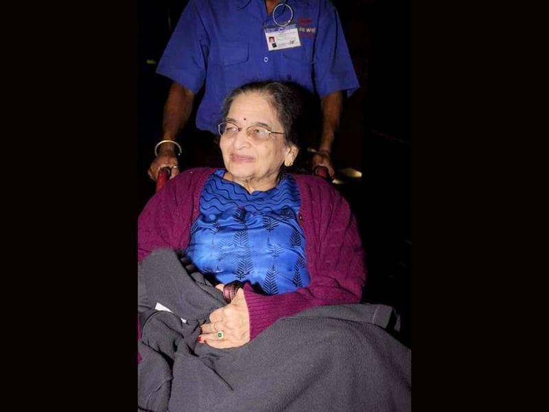 Madhuri Dixit's mother Snehlata Dixit welcomes her daughter back to the country.