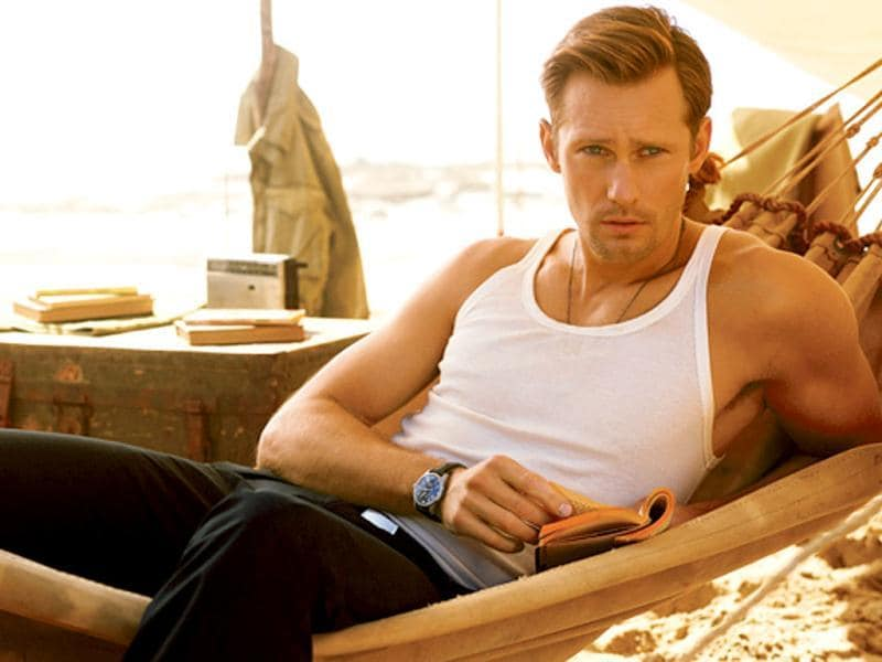 Another vampire, Alexander Skarsgard, of True Blood series, also made it to the top 10.
