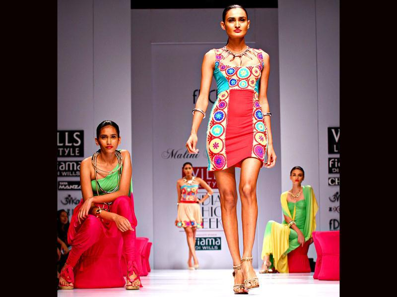 Malini Ramani showcased vibrant colours.