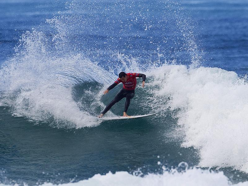 In this photo provided by the Association of Surfing Professionals, Jordy Smith, from South Africa, competes in the Quiksilver Pro France surfing competition in Hossegor, France.